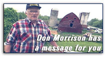 Don Morrison has a message for you.